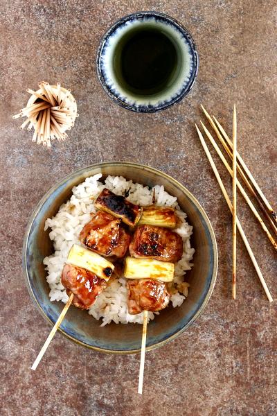 brochettes japonaises au poulet yakitori
