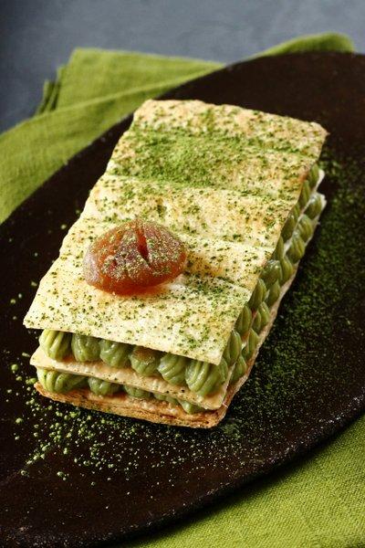 Dessert au thé vert matcha