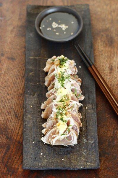 sashimi de bonite en tataki