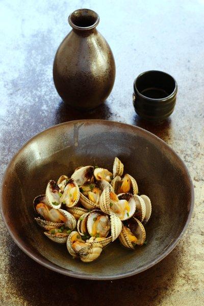 fruits de mer au saké japonais