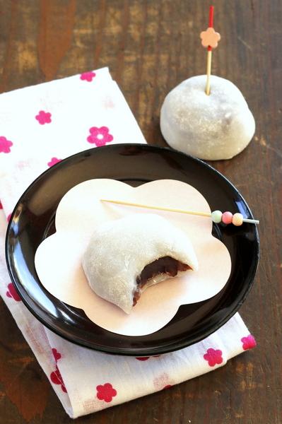 les daifuku mochi au haricot rouge azuki